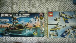 Lego plane and battleship. Never put together.
