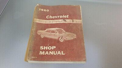 Vtg ORIGINAL 1960 Chevrolet CORVAIR Service Shop Repair Manual *used 2nd edition (Corvair Repair Manual)