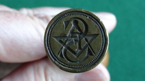 RARE ANTIQUE MASONIC SEAL 19th CENTURY