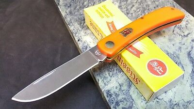 Kissing Crane Orange Mule Sodbuster Folding Blade Pocket Knife
