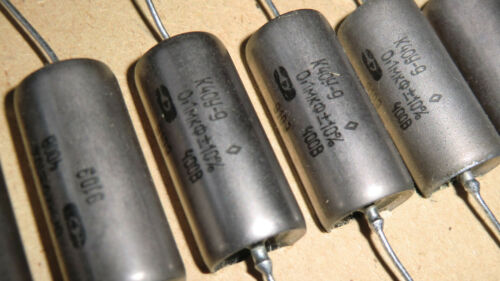 4 pcs K40Y-9 Paper in oil 400V-0,1uF-10% Russian military capacitors New