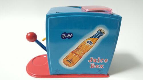 YONEZAWA Tin Toy Juice Box Bireleys Orange Old Toy Vintage Rare Made in Japan