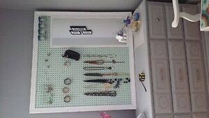 Hand crafted pegboard
