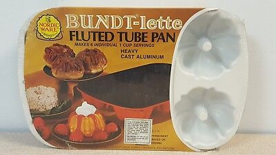 Nordic Ware Bundt-lette Fluted Tube Pan Heavy Cast Aluminum 6 Cup Mini NEW ()