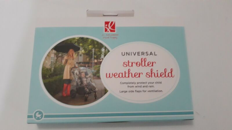 J.L. Childress Universal Stroller Weather Shield Clear Rain Cover New Sealed