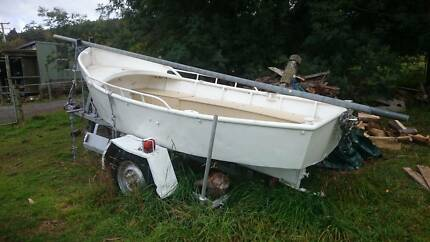 Decommissioned HEC Steel Boat With Diesel Volvo Inboard Engine Allens Rivulet Kingborough Area Preview