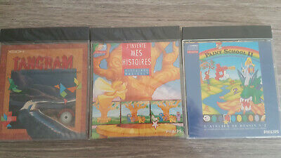 jeux philips cdi sous blister games SEALD CDI GAMES LOT cd i