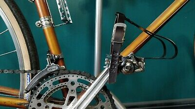 L//XL Polymer Commuter Road Bike Large Size 9+ Zefal 43 Toe Clips Set w// Straps