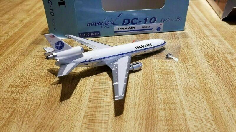 PanAm Models Pan American Airways DC-10-10 1:400 1980s Cols Clipper Meteor N60NA