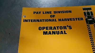 International Harverster Td-20 Series B Crawler Operaturs Manual