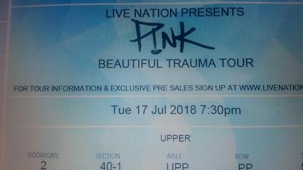 4 x Pink Tickets