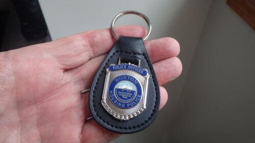 BOSTON HOUSING POLICE OFFICER   KEY CHAIN BOSTON POLICE   LEATHER BX 4 #8