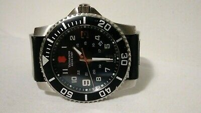 Victorinox Swiss Army black Dial Stainless Steel Sapphire Crystal Mens Watch