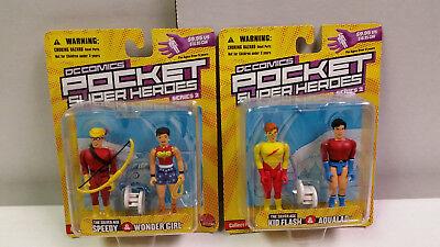 DC COMICS POCKET SUPER HEROES Teen Titans Speedy/Wonder Girl, Kid Flash/Aqualad
