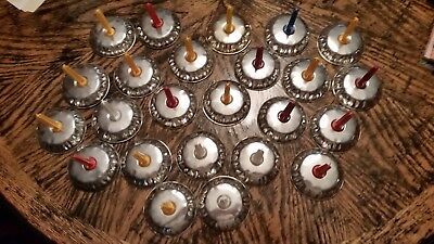 Lot of 24 Vintage Noise Makers Tin Metal ~ New Year ~ Birthday ~ 4th of July