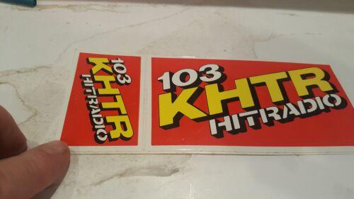 Vintage KHTR Radio 103 Hit  Rock Radio Bumper Sticker St. Louis