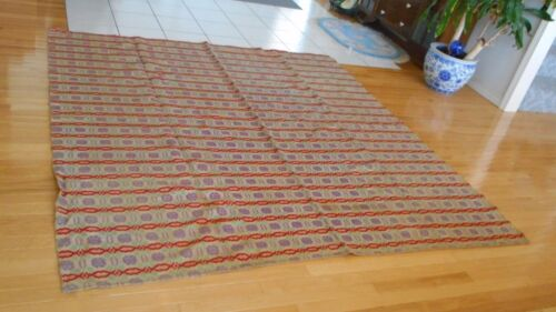 Large Victorian Throw Spread Quilt Coverlet 1800