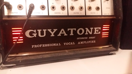 Guyatone PA vintage guitar or vocal amp, speakers and leads