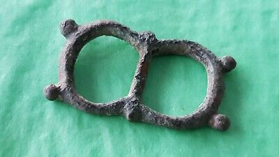 Very rare type Tudor Medieval buckle missing pin. Please read description. L29s