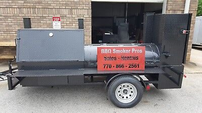 Tent Pole Hogzilla Bbq Smoker Cooker Grill Trailer Food Truck Catering Business