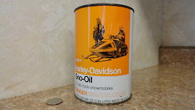 AMF HARLEY-DAVIDSON SNO-OIL FOR TWO CYCLE SNOWMOBILES 1 QT UNOPENED