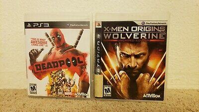 Deadpool X-Men Origins Wolverine Uncaged Edition Sony Playstation 3 PS3 lot of 2
