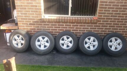 5 Jeep 4x4 16 inch wheels for sale  Epping Whittlesea Area Preview