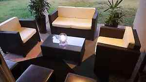 Wicker Rattan Outdoor Setting 4 Seater  5 piece Upper Coomera Gold Coast North Preview