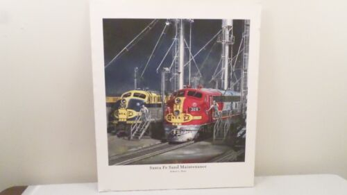 "SANTA FE SAND MAINTENANCE by Robert Hunt Railroad Train Art Print 24x21"""