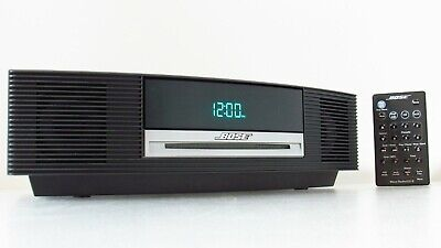 Bose AWRCC1 Wave Music System CD Player Radio Stereo Alarm Clock Bundle Remote