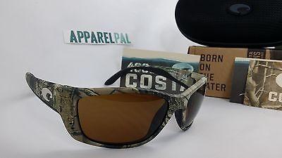 650a59815a New Costa Del Mar Fisch Polarized Sunglasses 400P Realtree AP Camo Amber  Hunting