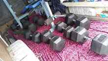5 pares brand new hex rubber dumbells Mawson Woden Valley Preview