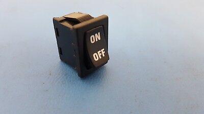 Rocker Switch Spst 15 Amp 120v On-off E-switch R1966ablkblkis Panel Mount
