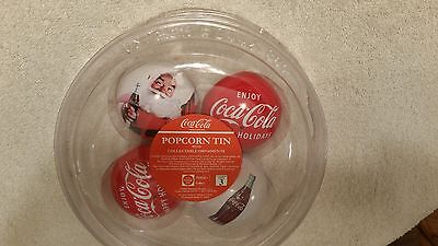 COCA COLA COLLECTIBLE ORNAMENTS FROM A 2009 POPCORN TIN