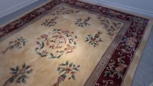 HAND TUFTED WOOL ORIENTAL RUG ( real root colours )
