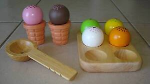 BRAND NEW Wooden Play Food Ice Cream Set - Ages 2+ Beaudesert Ipswich South Preview