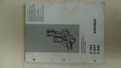 Continental F-163227245 Engine Manual For Caterpillar Forklift