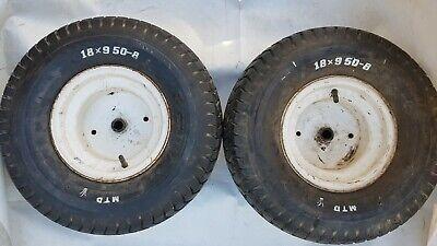 Reifen f/ür den Aufsitzm/äher 15x6.00-6 4pr mit Schlauch und geradem Ventil Komplettrad Rasentraktor