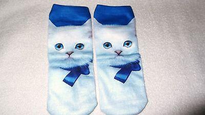 cute kitty cat socks unisex clothing casual
