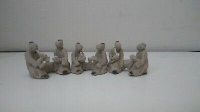 6 mini Mudmans, Miniature,  mudman figurine