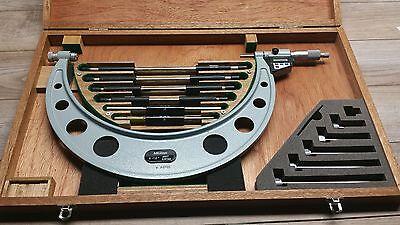 Mint Mitutoyo No . 340 712 Interchangeable Micrometer 6 - 12  .0001 Set