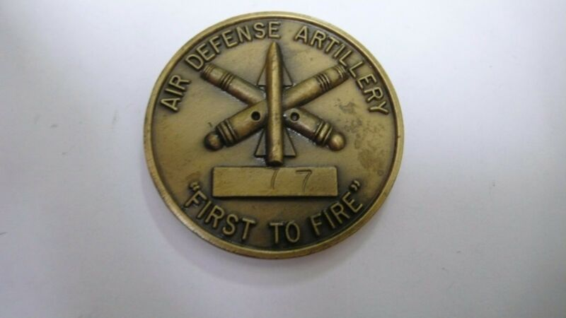 """2nd BATTALION 6th AIR DEFENSE ARTILLERY """"FIRST TO FIRE""""  CHALLENGE COIN NUMBERED"""