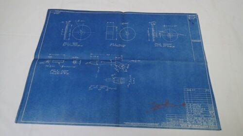 Antique Blueprint Industrial Art Detroit Automotive Ford Motor 1941 #7