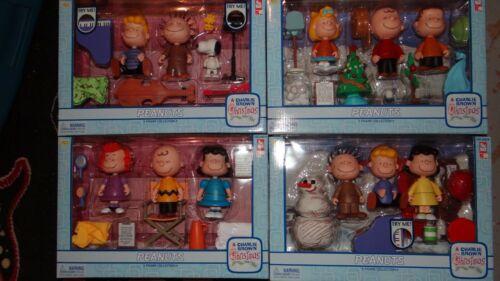 NIB Memory Lane Peanuts A Charlie Brown Christmas Figure Collection - Lot Of 4