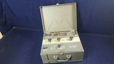Vintage Leeds Northrup 8687 Volt Potentiometer Rare Glass Face 3-day Refund