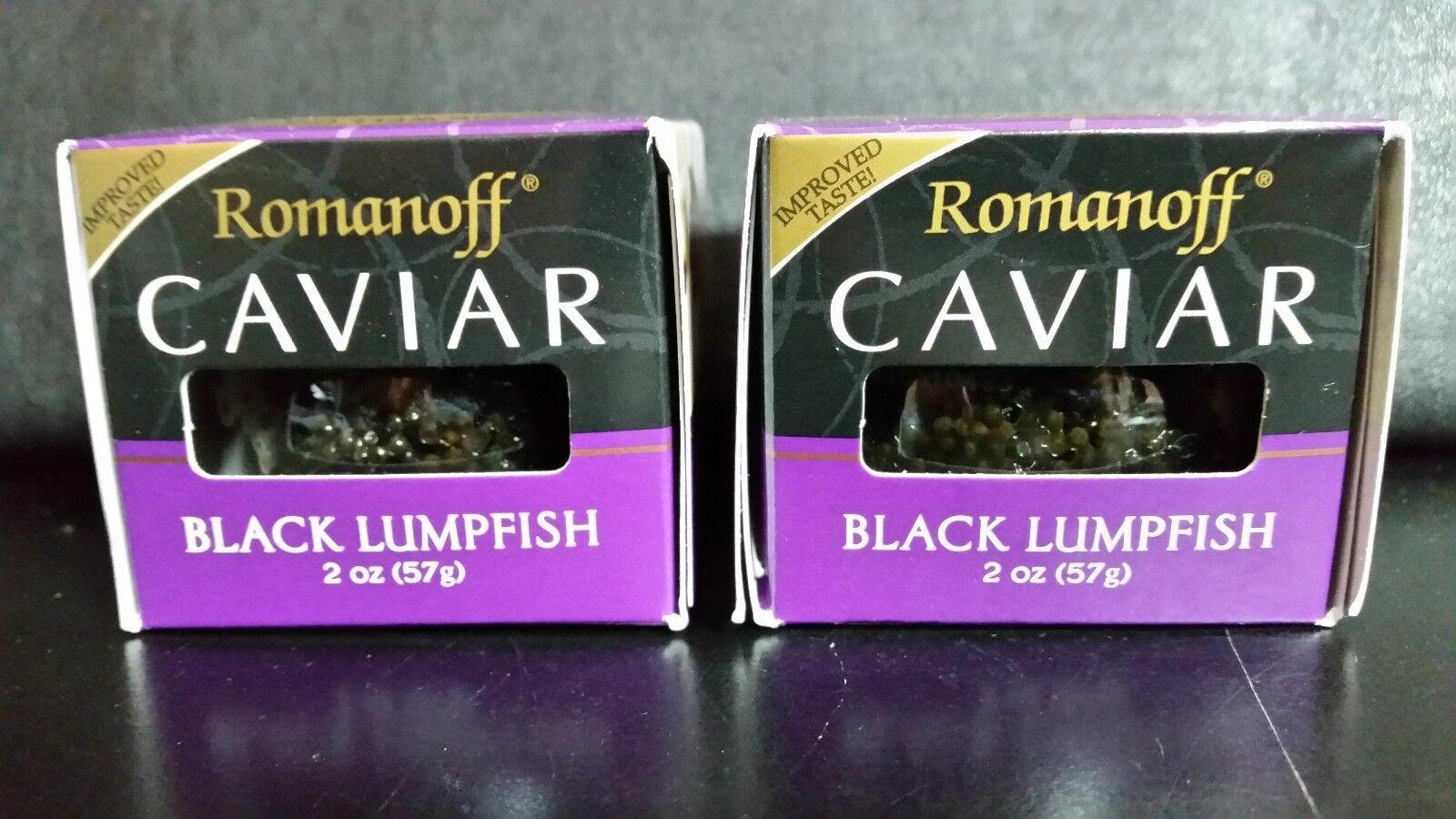 как выглядит 2 X Romanoff Caviar Black Lumpfish, 2 oz Jars фото