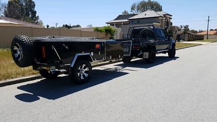 Jackson rear fold camper trailer