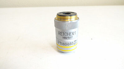 Reichert 1600.17 Phase 10 Dm 0.25 Microscope Objective