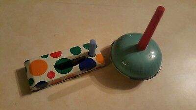 2 Vintage US Metal Tin Toy Noisemakers New Years Eve party space theme noisy! - New Years Eve Theme