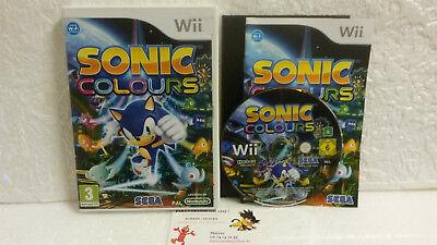 Jeu Vidéo Sonic Colours VF Wii U Nintendo Compatible WiiU TBE Sega Team 3D